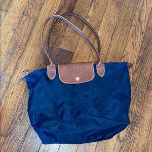 Longchamp Paris blue le pliage shopping tote purse